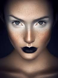 #Compelling look #Black and white makeup contrast #Mist #Alert #Sharp look. Photographer: Cristian Girotto