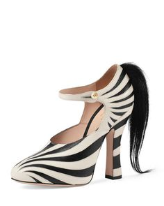 Gucci Lesley Ponytail Mary Jane Pump  They're bizarrely fascinating