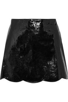 Valentino Patent-leather mini skirt