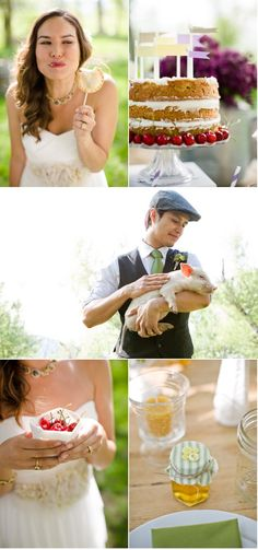 lovely farm to table wedding inspiration from Angie Wilson Photography and Calluna Events