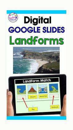 Use Google Classroom distance learning tech in the classroom to learn with digital task cards from google slides. 24 different landforms, Archipelago, Bay, Butte, Canyon, Cave, Delta, Desert, Fjords. A 12 question multiple-choice quiz is included. Students type the answer in the editable text box. Use this social studies activity and follow-up with Drag & Drop activities. #DistanceLearningTpT #techintheclassroom #paperlessclassroom #TeacherFeatures #googleclassroom #techinprimary Teaching Us History, Teaching Geography, History Education, Teaching Tools, Physical Education, Art Education, Teaching Technology, Educational Technology, Upper Elementary Resources