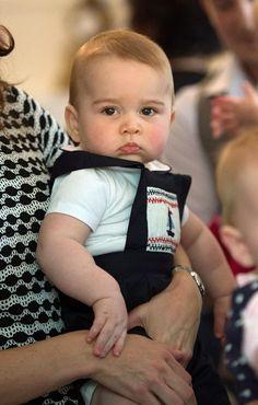 Prins George heeft zijn eerste internationale ...