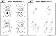 Match the bunny to the card with the matching number of carrots - pinned @ I Love Teaching Blogs http://atoztea.ch/iluvtchblgs