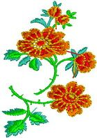 4X4 Floral Design 357 | FREE Embroidery Designs | Floral, Baby, Ornament, and Neckline Embroidery Designs