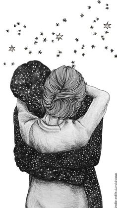 Image discovered by Zoridiel López Díaz. Find images and videos about love, art and couple on We Heart It - the app to get lost in what you love. Couple Wallpaper, Love Wallpaper, Wallpaper Backgrounds, Iphone Wallpaper, Couple Drawings, Art Drawings Sketches, Illustration Art Dessin, Hipster Vintage, Couple Art