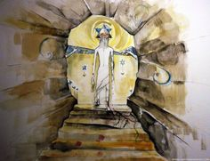 Messiah     מָשִׁיחַ, Jesus Christ, resurrection, rising from the tomb after 3 days, 2 angels, light of the world, crucifixion, crown of thorns, religious, christian, art, bible painting, drawing