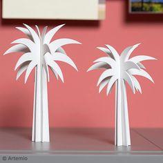 DIY Palmiers en bois Déco épurée Palmiers, Cardboard Crafts, Tropical, Home And Deco, Decoration, Flamingo, Inspiration, Images, Animation
