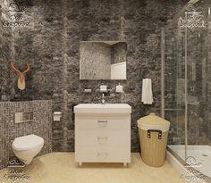 Готовый проект ванной для интерьера в мужском стиле.