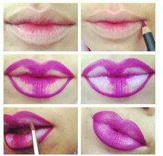 How to contour your lips..illusion of bigger lips ♡
