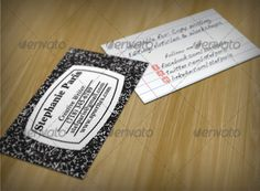 An author's business card is usually very different from the average businessman's business card. An author's business card has the details of the author and it may have one of his books front covers as the background of the visiting card.