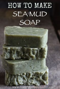 "Sea Mud Soap Recipe - ""The cure for anything is salt water – sweat, tears, or the sea"" ~ Baroness Karen Blixen I l - Soap Making Recipes, Homemade Soap Recipes, Homemade Paint, Beeswax Recipes, Homemade Beer, Bath Recipes, Homemade Candles, Homemade Facials, Diy Candles"