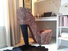 Charmant Leopard High Heel Chair   Google Search