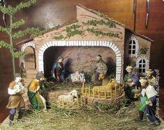 Макет модель Рождество Папье-маше Рождественский вертеп Бумага фото 1