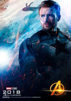 Avengers Infinity War Captain America Movie Poster (2018)