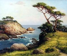 A website devoted to the life and work of the artist Robert William Wood, including a critical assessment of his career, more than one hundred images of his paintings, and information on authenticating Wood's works. Wood Paintings, Landscape Paintings, Landscapes, Monterey Cypress, Robert Wood, Wood Oil, California Art, Central Coast, Pictures To Paint