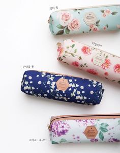 Flying Whales New Floral Pencil Case Multi Pouch 4 Colors | eBay