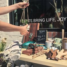 We're having our Side Walk Sale today along with @everyday__magic ! Stop from 10am until close to pick up some great discounted maker goods up to 70% off just in time to start your holiday shopping.  Pssh! We're also at Indie Craft Parade in Greenville SC today from 9-6pm! #ModernPlantStyle #theZenSucculent