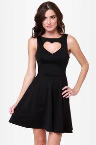 Te Amo Cutout Black Dress