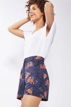 PETITE Tiger Print Shorts - Shorts - Clothing - Topshop