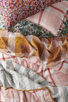 Shop bedlinen now Grown Up Bedroom, Linen Duvet, Textiles, Soft Furnishings, Home Textile, Antique Iron Beds, Storage Spaces, Duvet Covers, House Design