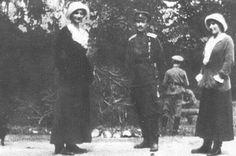 Grand Duchesses Tatiana and Anastasia Nikolaevna Romanovs of Russia under house arrest in 1917.A♥W