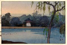 Ikenohata by Hiroshi Yoshida, 1937...everything about this is amazing.