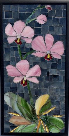 Stained Glass Mosaic Wall Art home decor mosaic flower wall art glass flower wall decor mosaic mosaics asian art art Mosaic Tile Art, Mosaic Artwork, Mosaic Crafts, Mosaic Glass, Mosaics, Mosaic Tray, Mosaic Drawing, Easy Mosaic, Paper Mosaic