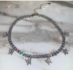 Excited to share this item from my shop: Sale butterfly tennis choker , cz tennis butterfly necklace , bling iced tennis butterfly, butterfly necklace Heart Jewelry, Cute Jewelry, Body Jewelry, Jewelry Accessories, Jewelry Box, Jewelry Armoire, Jewlery, Bullet Jewelry, Jewelry Findings