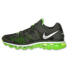 Mens Nike Air Max 2012 Sequoia Volt Running Shoes