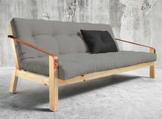 Schlafsofa POETRY Sofa mit klappbarer Rückenlehne Kiefer natur, Karup
