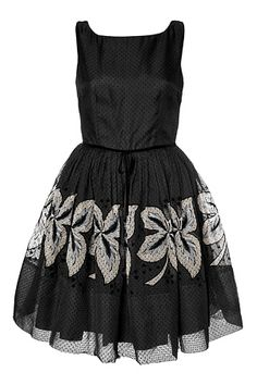 <3 50s inspired #dress, #black with white detail