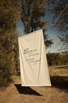 Hanging sign http://rusticweddingchic.com/colorado-rustic-wedding-blue-valley-ranch