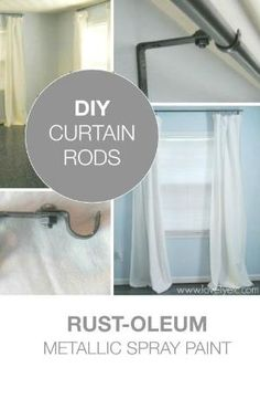 get the best look possible for your curtain rods with this great diy tutorial use spray paint to spruce up the look