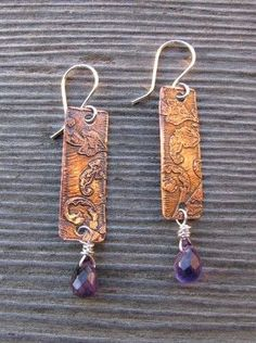 "Jewelry Making Journal that starts here >> Acid E . - > Acid E…""> Etched copper jewelry … Jewelry Making Journal that starts here >> Acid Etch … - Copper Earrings, Copper Jewelry, Clay Jewelry, Crystal Jewelry, Jewelry Gifts, Handmade Jewelry, Pendant Earrings, Jewelry Ideas, Soldering Jewelry"