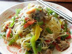 Nouilles de riz sautées aux poivrons - La cuisine japonaise du quotidien