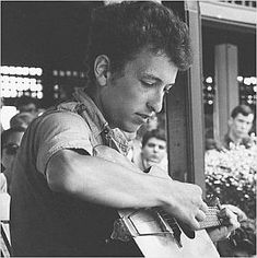 Bob Dylan at the Newport Folk Festival, 1963.