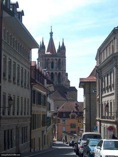 photo Cathédrale vue de la Cité - Lausanne