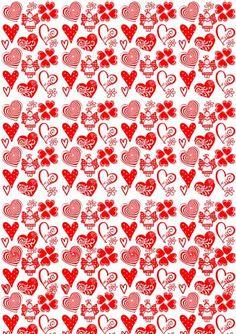 Corações Vermelhos para Imprimir