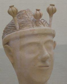 "The ""Poppy Goddess,"" ca. Terracotta, Archaeological Museum of Crete at Heraklion. Mycenaean, Minoan, Heraklion, Design Thinking, Crete, Prehistoric, The Expanse, Poppies, Culture"