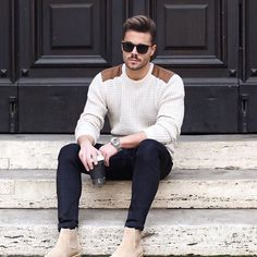 men style tips clothing ~ men style tips ; men style tips casual ; men style tips gentlemens guide ; men style tips clothing ; men style tips body types ; men style tips fashion advice ; men style tips mens essentials ; men style tips facial hair Mens Fall Outfits, Stylish Mens Outfits, Casual Outfits, Mens Fashion Outfits, Mens Sweater Outfits, Nice Outfits For Men, Best Boots For Men, Urban Style Outfits, Stylish Clothes
