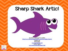 Sharp Shark Articulation FREEBIE perfect for Shark Week!!