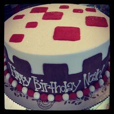 Minecraft cake - Noah's 5th!