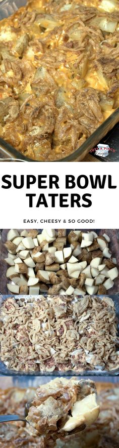 Cheesy ranch and bacon potatoes recipe with fried onions! Easy casserole recipe! #casserole #potatoes #bacon #ranchpotatoes #sidedish #dinnertime