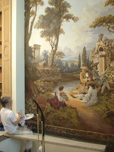 Eye For Design: Decorating With Murals And Frescoes.......Elegantly Painted Walls