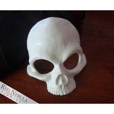 Human Skull Half Mask Blank, Resin Skeleton Mask, Halloween Mask, Grim... ($38) ❤ liked on Polyvore featuring home, home decor, halloween home decor, masquerade masks, skeleton home decor, skull home accessories and skull home decor