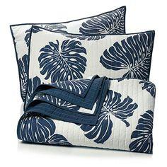 India Hicks Palm Fronds 100% Cotton 3-piece Quilt Set at HSN.com