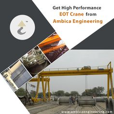 #AmbicaEngineering known for serving high-performing #EOTcrane to the industry. These cranes are used in different industries like construction, oil refinery, ship industry etc. http://www.ambicaengineering.com/EOT-Cranes