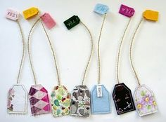 Sewing. Making fabric teabag bookmarks!