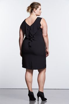 568c92ddc5116 Plus Size Simply Vera Vera Wang Simply Noir Ruffle Shift Dress