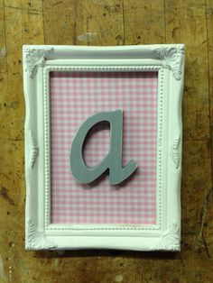 Shabby Chic Nursery Letter Art by MissPaisleyPearl on Etsy